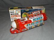 Vintagetin Lithomagic Colormoon Express / Space Trainearly 1970and039staiwanmib
