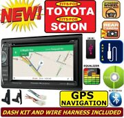For Toyota And Scion Gps Navigation System Dvd Cd Bluetooth Usb Aux Radio Stereo