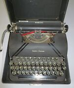 Vintage Smith-corona Sterling Typewriter W/ Carry Case