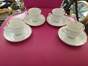 Walbrzych Southington China Dinnerware Empire Set 4 Demitasse Cups And Saucers