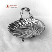 Antique Russian 84 Silver Shell Swing Handle Basket Moscow 1852