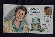 Ronald Reagan Us President Forever Stamp Fdc Hp Collinsi4802 S4494 Jelly Beans