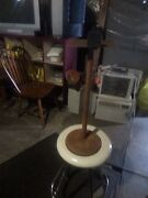 Vintage Retro Mid Century Metal Telephone / Ash Tray Stand,. Has Surface Rust.