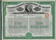 Mexico 1909 National Railways Of Mexico Bond Stock Certificate Ferrocarriles Abn