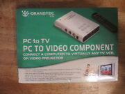 Grandtec Pc To Video Component Gxp2000 Computer To Tv Vcr Or Projector