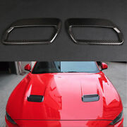 Hood Air Outlet Carbon Fiber Decorative Stickers For Ford Mustang 2018 2019 2020