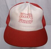 Vintage King Syrup Employee Trucker Snap Back Mesh Hat Southern Syrup Pancakes