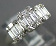 .57ct Diamond 18kt White Gold 3d Round And Baguette Cluster Square Engagement Ring