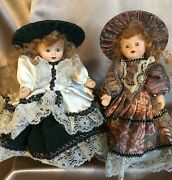 Lot Of 2 Vintage Porcelain Dolls With Built In Music Boxes Floral And Victorian