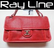 Shoulder Bag French Riviera Punching Chain Red Mintused 100 Authentic