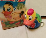 Vintage Tin Wind Up K Lovely Duck Made In Japan In Original Box Tin Toy Lot