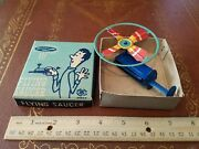 Tin Flying Saucer By Modern Toys 1950s Made In Japan In Box Plunger Tin Toy Lot