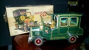 Vintage Tin Battery Operated Car S.h Made In Japan In Box Toy Lot
