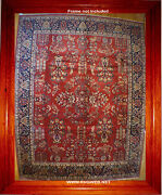 8x10 Sarouk Hand Kotted Rug New Wool Pile Very Fine Top Quality