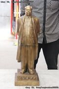 Chinese Brass Famous Great Cacique Chairperson Mao Ze Dong Mao Zhu Xi Statuary