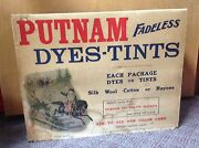 Vintage Putnam Fadeless Dyes Lithograph Wood Advertising Store Display