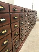 Antique Apothecary General Store Druggists Cabinet 152x12x39circa 1880-1900