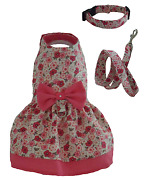 Dog Dress Daisy Pink Flowers For Small Dog Chihuahua Toy Breed Dachshund Xxs-m