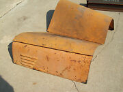 Vintage 50and039s International R-185 R-190 Truck Hood Good Condition