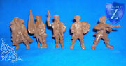 Civil War Anarchists, 5 Collectible Miniatures, Toy Soldiers, Russia, 54mm, Rare