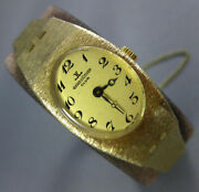 Antique Jaeger Lecoultre 14kt Yellow Gold 3d Oval Swiss Classic Watch 2305