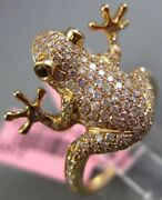 Estate 1.05ct Pink And Black Diamond 18kt Rose Gold 3d Classic Happy Frog Fun Ring
