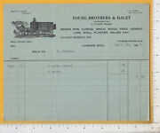 A434 Smith G. Young Brothers And Daley Billhead Coping Brick Hay Lansing Mi 1915