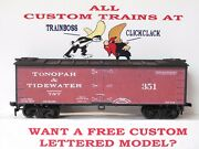 Ho Custom Lettered Tonopah And Tidewater R.r. Reefer. Boxcar Freight Car Lot A