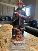 Lionstone Whiskey Porcelain Fireman Decanter 7 1972 13 Tall No Alcohol
