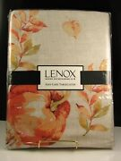 Lenox Heirloom Pumpkin Tablecloth Easy Care 70 Round And 60' X 120 Oblong Nwt