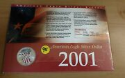 2001 Painted American Eagle Silver Dollar In Collectors Card