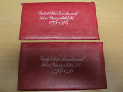 1776-1976 U.s. Bicentennial Silver Uncirculated Set. Lot Of Two