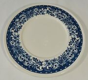Villeroy And Boch Mettlach Germany Blue Castle Soup Bowl Saucer Euc