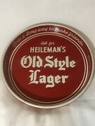 Rare Vintage Heilemans Old Style Lager Beer Tray Metal White/red Since 1805
