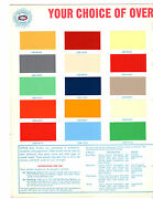 Original Rare Ditzler Boat Finishes Color Paint Chip And Engine Color Code Manual