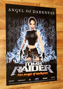2002 Tomb Raider The Angel Of Darkness Game Store Very Rare Promo Poster Ps2