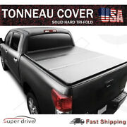 Lock Hard Solid Tri-fold Tonneau Cover For 2004-2014 Ford F-150 6.5and039 Ft 78 Bed