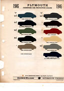 1946 1947 1948 Plymouth Special Deluxe Paint Chips 46 Sherwin Williams 11pc Cars