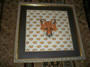 Counted Cross Stitch Double Matted Framed Finished Fox Free Shipping Usa