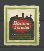 Dosana Sprudel Mineral Water Advertising Stamp/label