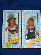 Vintage Dbgm Wind Up 1960and039s Dancing Dolls Boxed Toys Made Germany Tin Toy Lot