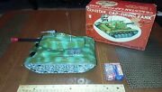 Vintage Tin Toy Cragstan Battery Operated Ngs Firing Tank Japan Box Tin Toy Lot