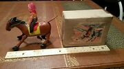 Vintage Tin Litho Windup Cowboy Made Occupied Japan 1940's In Box Tin Toy Lot