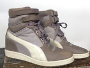 Sky Hi Contact Wedge Fashion Sneakers Trainer Womenand039s 9.5 Grey Violet Shoes