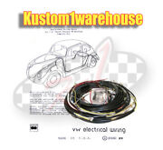 1954 Vw Volkswagen Bug Sedan Complete Wiring Works Harness Wire Kit Made In Usa
