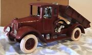 Cast Iron Reproduction Dump Truck Because I Love My Red Baby On The Box