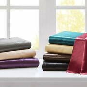 Superior Bedding Items New Satin Silk 1000 Tc Short Queen Size Select Colors