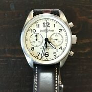 Bell And Ross Vintage 126 Chronograph Automatic In Steel With Deployant Strap