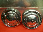 2 Used 57 Chevrolet Chevy Bel Air Nomad 14 Wheelcovers
