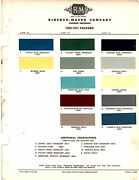 1949 1950 Packard Clipper Victoria Custom 49 50 Paint Chips Rinshed Mason